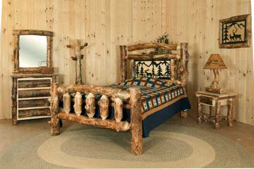 Rocky Mountain bedroom in solid Aspen
