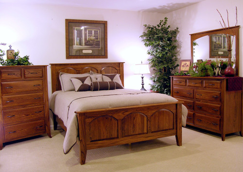 Carlisle bedroom collection in solid elm