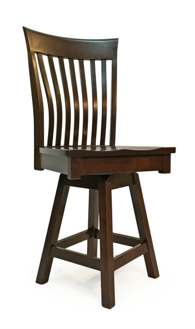 Amish Handcrafted Christy counter swivel stool