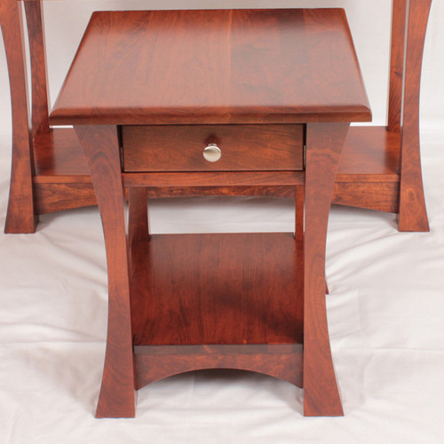 Amish Handcrafted Elmo End Table