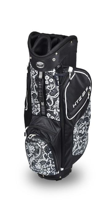 Ladies 2.5 Lace Cart Bag Black/White