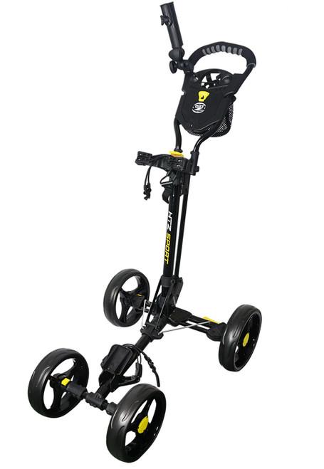 Sport 4 Wheel Push Cart Black