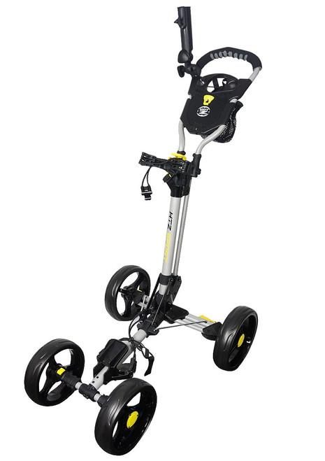 Sport 4 Wheel Push Cart Silver