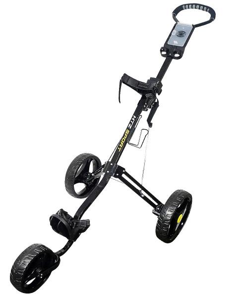 Sport 3 Wheel Push Cart Black