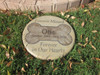 """Personalized Engraved Pet Memorial  Stone 11""""Diameter 'Forever Missed Forever in Our Hearts'"""