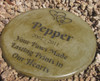"Personalized Engraved Pet Memorial  Stone 11"" Diameter 'Your Paws Made Lasting Prints on Our Hearts'"