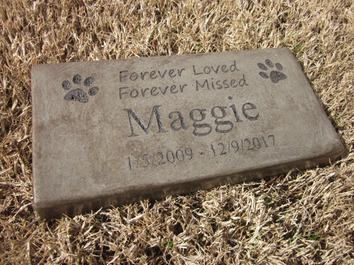 """Personalized Engraved Pet Memorial  Stone 11.5""""x 5.5"""" Forever Loved Forever Missed"""