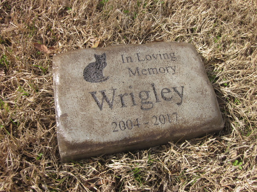 "Personalized Engraved Pet Memorial  Stone 8.5""x5.5""  In Loving Memory Cat"