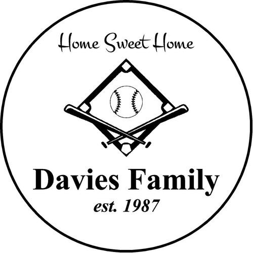 "Family Memories Step Stone 13.5"" Diameter 'Home Sweet Home'Davies Family"