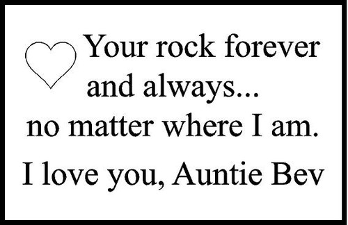 "Personalized Engraved Memorial  Stone 8.5""x5.5"" Auntie Bev"