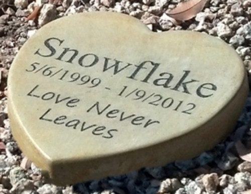 "Personalized Engraved Pet Memorial  Stone 9"" Heart 'Love Never Leaves'"