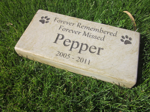 """Personalized Engraved Pet Memorial  Stone 11.5""""x 5.5"""" Forever Remembered Forever Missed"""