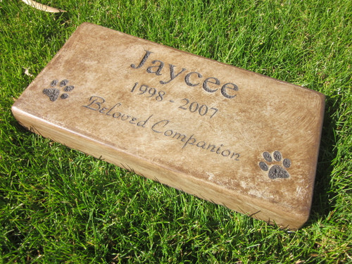 "Personalized Engraved Pet Memorial  Stone 11.5""x 5.5"" Beloved Companion"