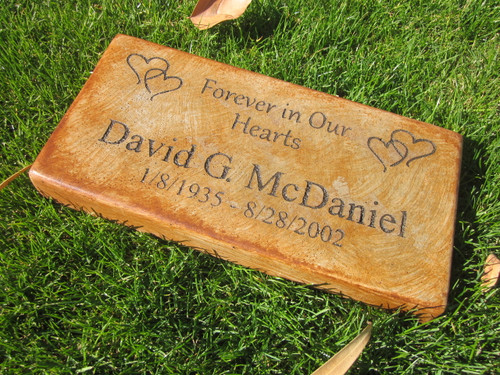 """Personalized Engraved Memorial  Stone 11.5""""x 5.5"""" Forever in Our Hearts"""
