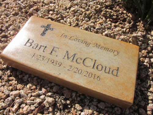 """Personalized Engraved  Memorial  Stone 11.5""""x 5.5"""" In Loving Memory"""