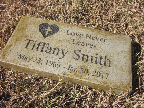 """Personalized Engraved  Memorial  Stone 11.5""""x 5.5"""" Love Never Leaves"""