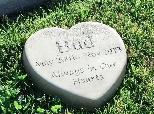 "Personalized Engraved Pet Memorial  Stone 9"" Heart 'Always in Our Hearts'"