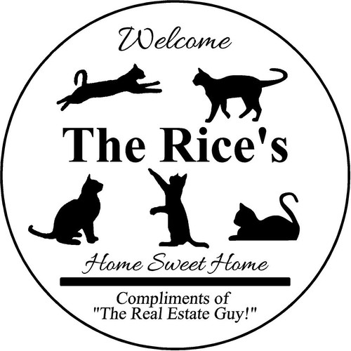 "Family Memories Step Stone 13.5"" Diameter 'Home Sweet Home The Rice's"
