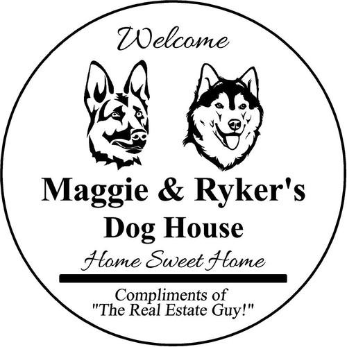 "Family Memories Step Stone 13.5"" Diameter 'Home Sweet Home Maggie & Ryker's"