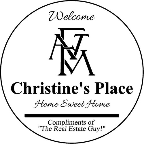 "Copy of Family Memories Step Stone 13.5"" Diameter 'Home Sweet Home Christine's Place"
