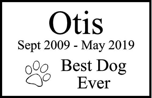 "Personalized Engraved Pet Memorial  Stone 8.5""x5.5"" Otis_custom"