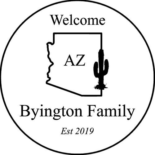 "Family Memories Step Stone 13.5"" Diameter 'Home Sweet Home'Byington's"
