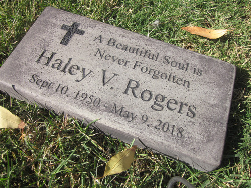"""Personalized Engraved Memorial  Stone 11.5""""x 5.5"""" A Beautiful Soul is Never Forgotten"""