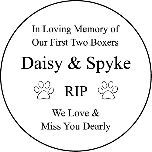"Personalized Engraved Memorial Garden Stone 13.5"" Daisy Spyke_custom"