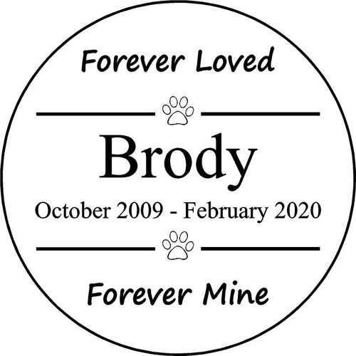 "Personalized Engraved Memorial  Stone 11"" Brody_custom_1"