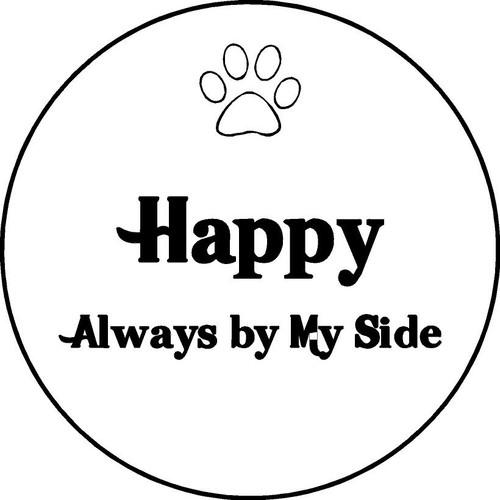 "Personalized Engraved Memorial  Stone 11"" Happy_custom"