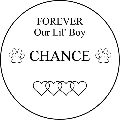 """Personalized Engraved Memorial Garden Stone 13.5"""" Chance_custom"""