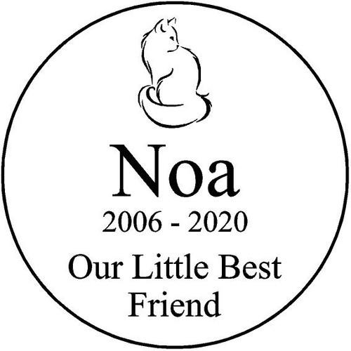 "Personalized Engraved  Stone 7.5"" Diameter Noa"