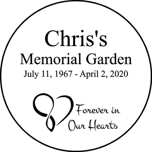"Personalized Engraved Memorial  Stone 11"" Chris'sMemorialGarden"