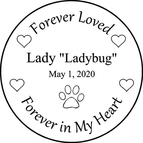 "Personalized Engraved Memorial  Stone 11"" Lady_custom"