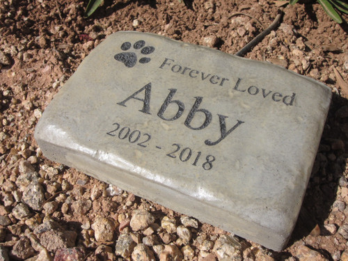 "Personalized Engraved Pet Memorial  Stone 8.5""x5.5""  Forever Loved"
