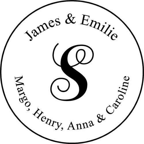 "Personalized Engraved Memorial Garden Stone 13.5""  James  Emilie_custom"