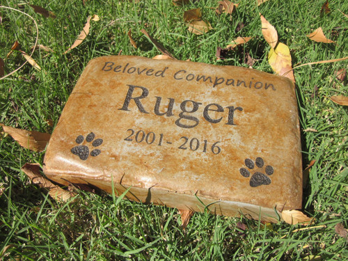 "Personalized Engraved Pet Memorial  Stone 8.5""x5.5"" Beloved Companion"