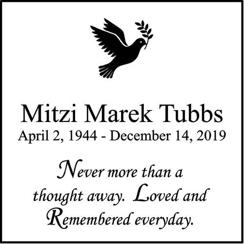 "Memories Step Stone 11.5""x11.5"" Mitzi Marek Tubbs_Dove"
