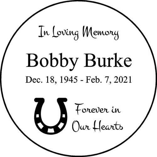 "Personalized Engraved Memorial  Stone 11""  DiameterBobby Burke_custom"