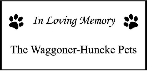 "Personalized Engraved Memorial  Stone 11.5 x 5.5"" PSS122R_FLFM_The Waggoner-Huneke Pets"