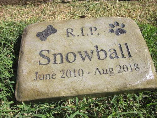 "Personalized Engraved Pet Memorial  Stone 8.5""x5.5"" Rest in Peace"