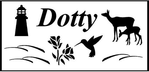 "Personalized Engraved Memorial  Stone 11.5 x 5.5"" Dotty_custom.jpg"