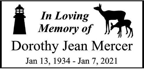 "Personalized Engraved Memorial  Stone 11.5 x 5.5"" Dorothy Jean Mercer_custom.jpg"