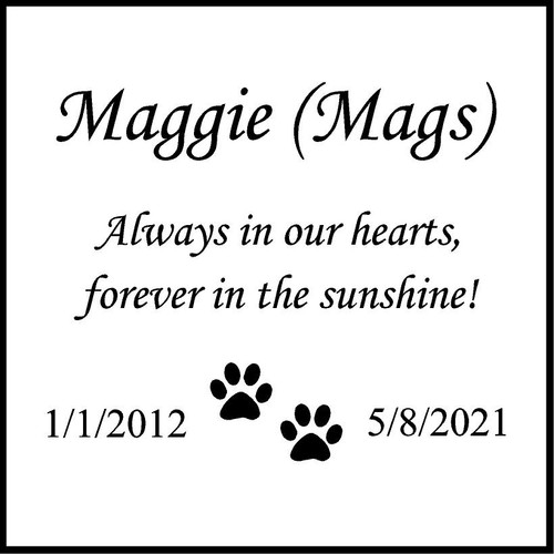 """Memories Step Stone 11.5""""x11.5"""" Maggie Mags_"""