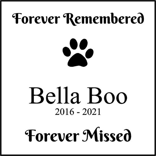 "Memories Step Stone 11.5""x11.5"" Bella Boo"