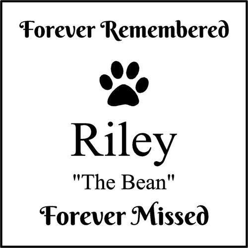 "Memories Step Stone 11.5""x11.5"" Riley"