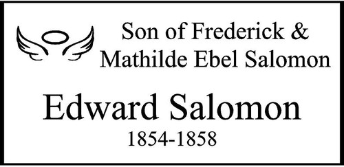 "Personalized Engraved Memorial  Stone 11.5 x 5.5"" Edward Salomon_cusotm"
