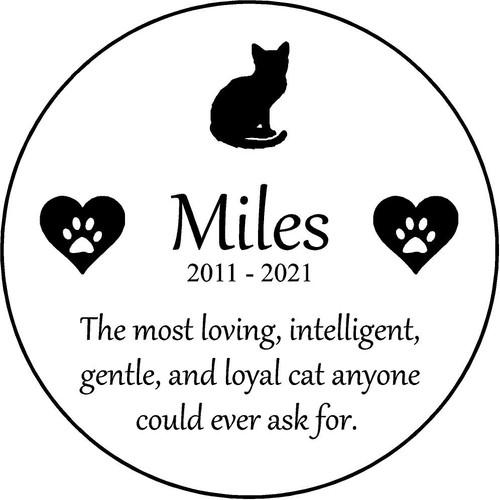 "Personalized Engraved Pet Memorial  Stone 13.5"" Diameter Miles_custom.jpg"