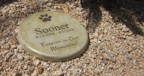 "Personalized Engraved Pet Memorial  Stone 11"" Diameter 'Forever in Our Memories'"