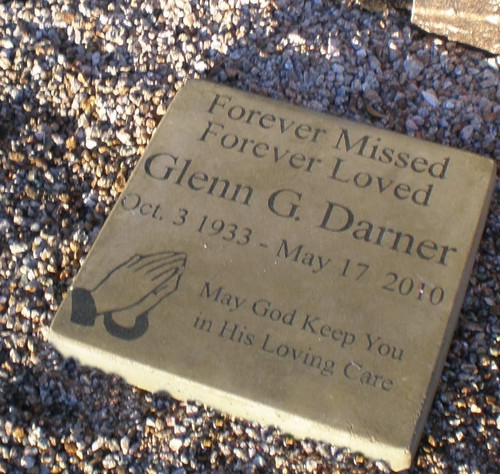 "Personalized Engraved Memorial Garden Stone 11.5""x11.5""  'May God Keep You in His Loving Care'"
